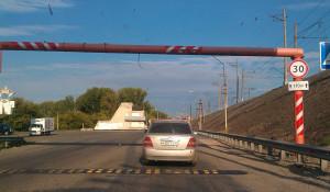 """""""Лежачий полицейский"""" на Старом мосту."""