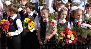 День знаний в 123-й гимназии. Барнаул, 1 сентября 2015 года.