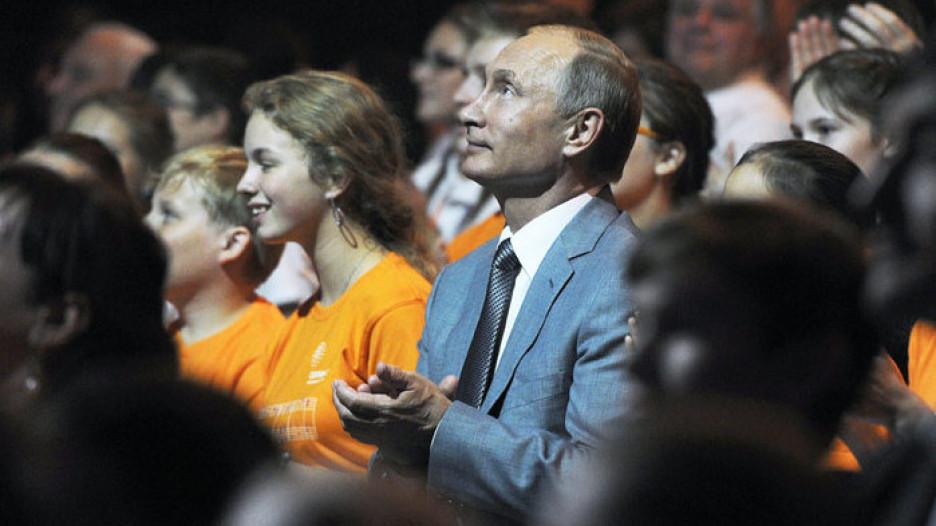 Владимир Путин в Сочи на концерте по случаю Дня знаний.