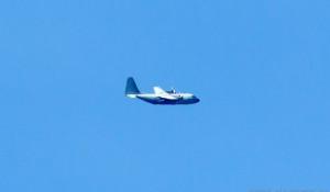 Американский самолет-разведчик в небе над Алтаем.