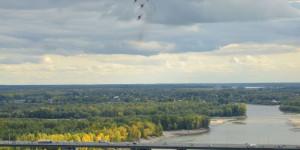 """""""Стрижи"""" отрепетировали авиашоу в небе над Барнаулом."""