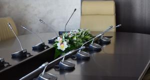 Зал заседаний в мэрии Барнула.