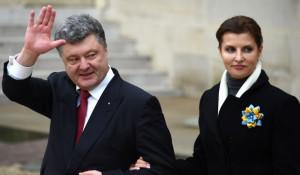 Петр Порошенко с женой.