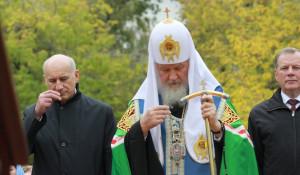 Во время визита патриарха Кирилла в Барнаул. 21 сентября 2015 года.