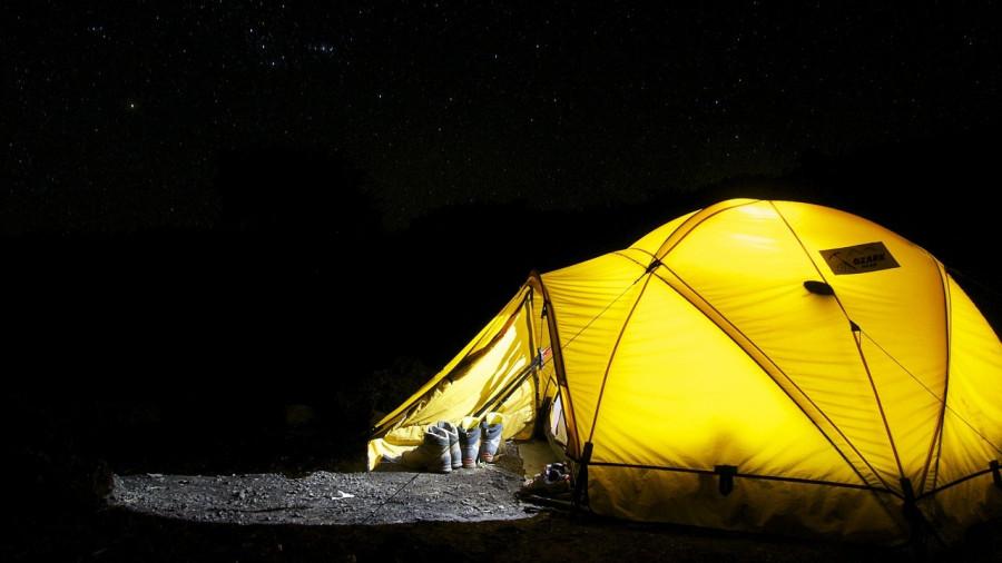 Палатка, ночь, туризм.