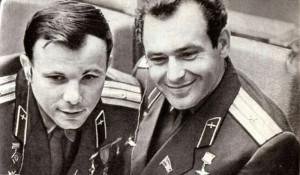 Юрий Гагарин и Герман Титов.
