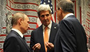 Владимир Путин, Джон Керри и Сергей Лавров.