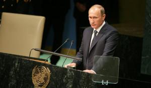 Владимир Путин на сессии Генеральной Ассамблеи ООН.
