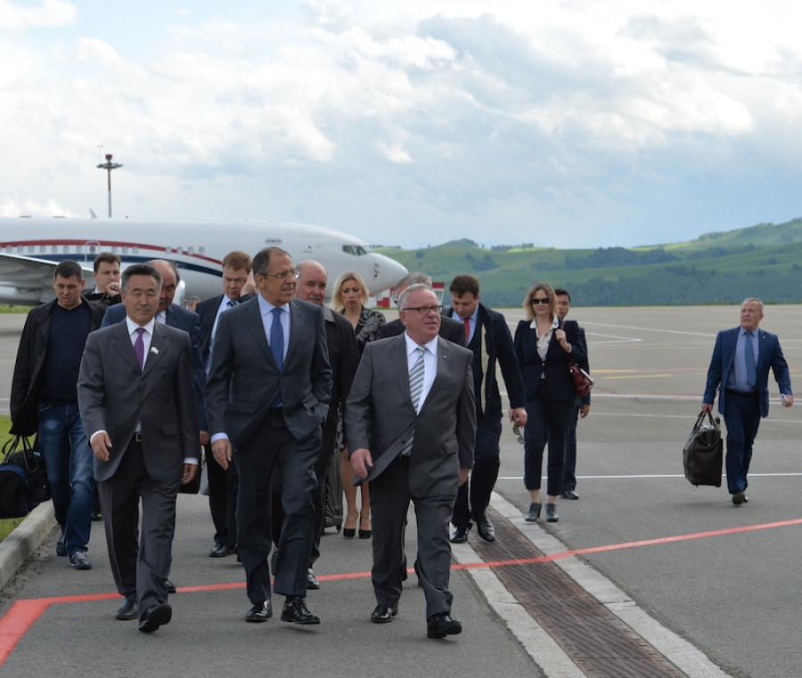 Сергей Лавров в Горно-Алтайске 29 мая 2015 года.