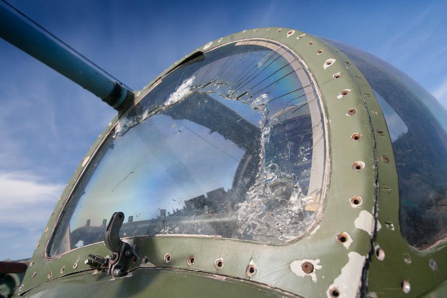"""Ми-24 в Музее авиации на аэродроме """"Лесной""""."""