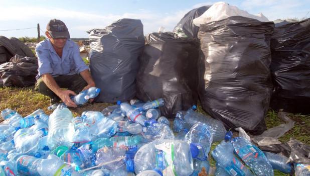 """Пластик на свалке """"Чистого двора"""" собирают отдельно."""