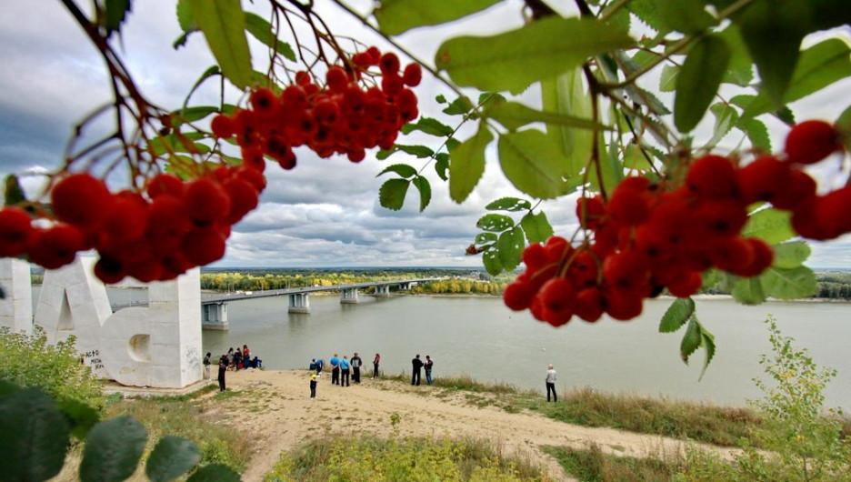 Тёплая осень в Барнауле.