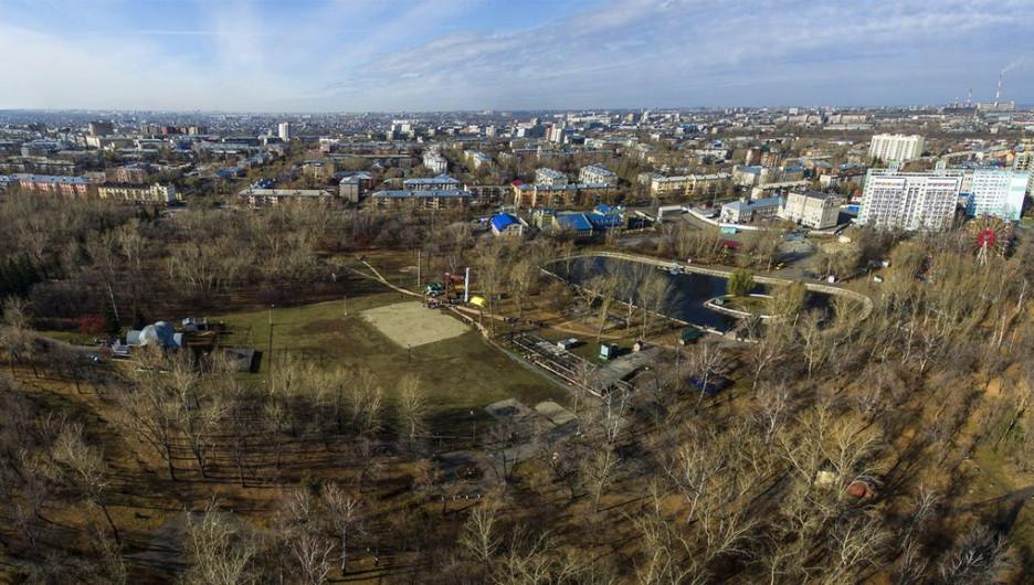 """Панорама парка """"Изумрудный""""."""