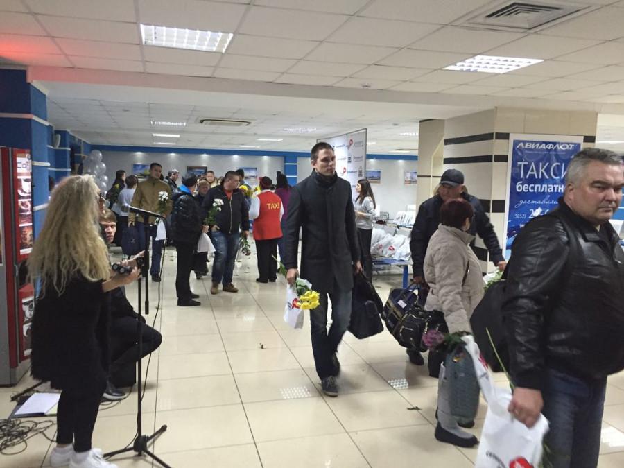 В аэропорту Барнаула.
