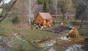 Открытие водяной мельницы в Белокурихе.