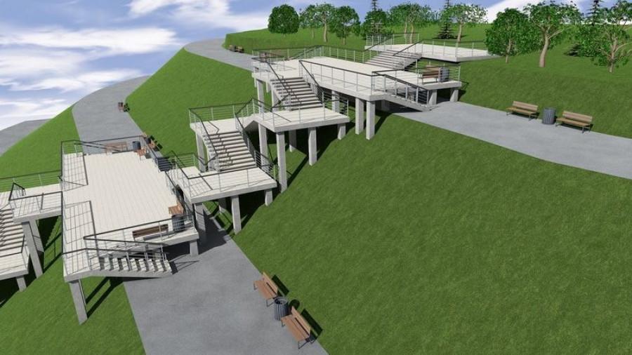 Проект лестницы в Нагорном парке.