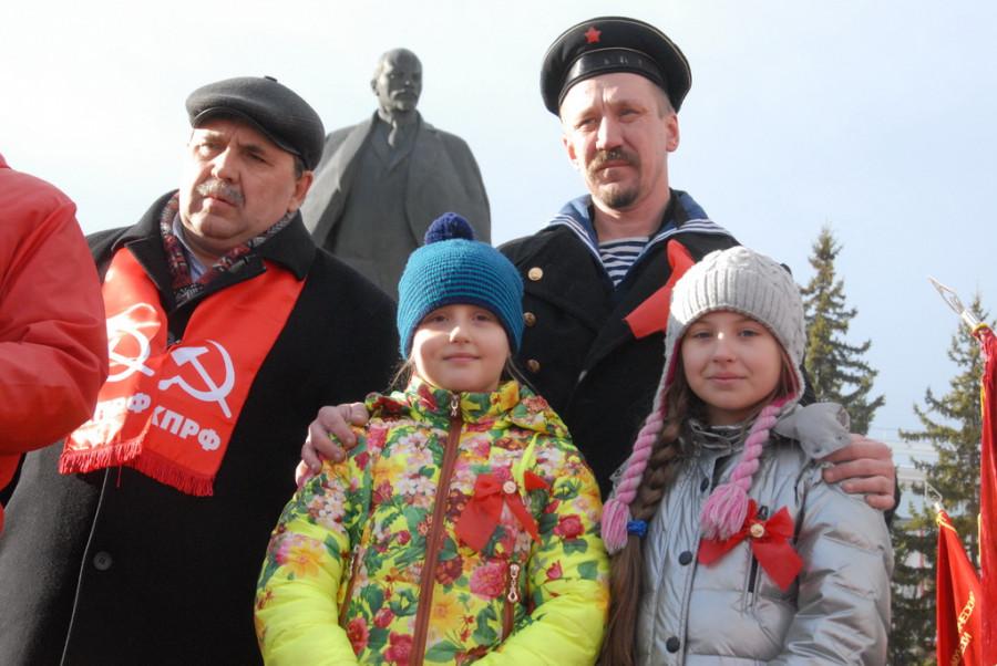 Шествие и митинг коммунистов 7 ноября 2015 года.