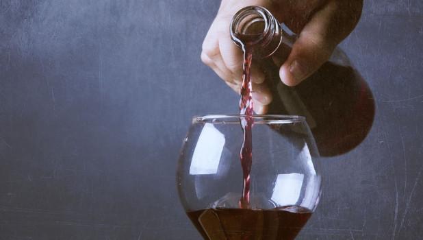 Бокал, вино.
