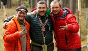 """Участники реалити-шоу """"Выжить в лесу""""."""