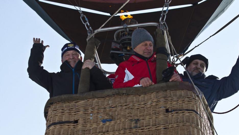 Александр Карлин и Александр Ракшин на воздушном шаре.