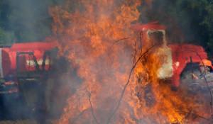 Пожарные, огонь.