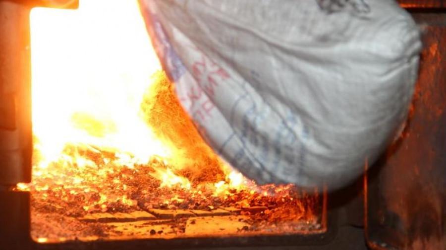 Уничтожение наркотиков в Барнауле.