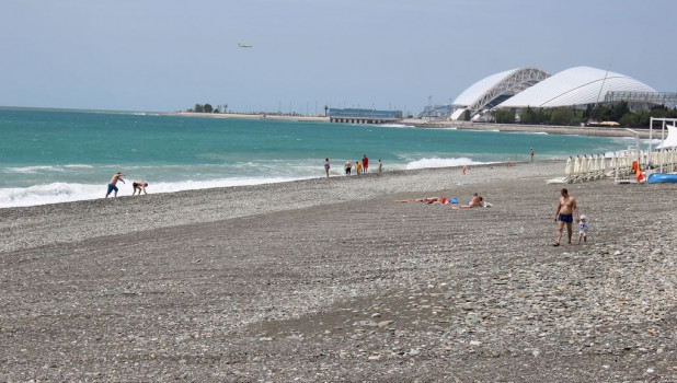 Сочи. Пляж. Курорт.