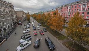 Проспект Ленина в Барнауле.