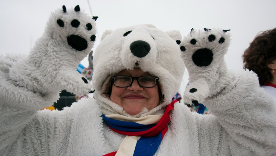 """Торжественное открытие """"Алтайской зимовки-2015"""". Барнаул, 12 декабря 2015 года."""