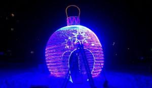 Новогодний шар в Барнауле.