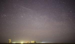 Метеорит над Байконуром.