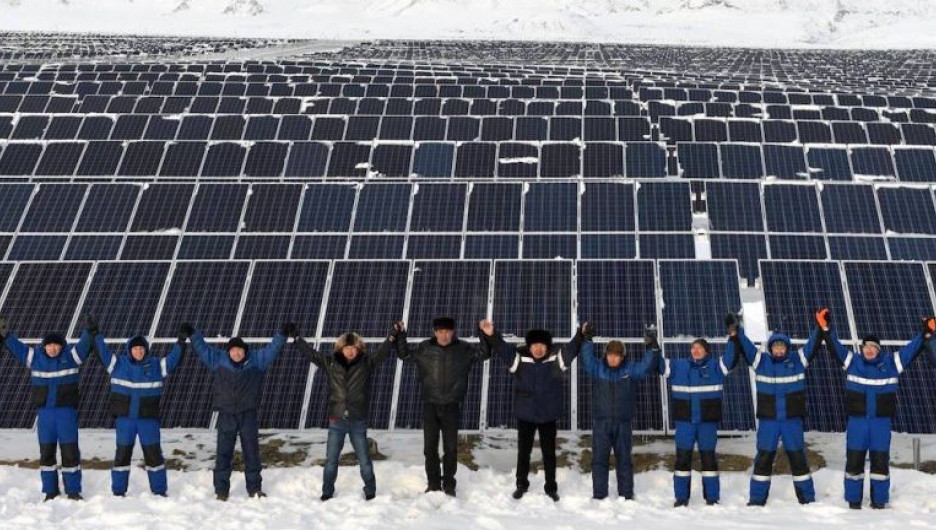 Солнечная электростанция в Кош-Агачском районе.