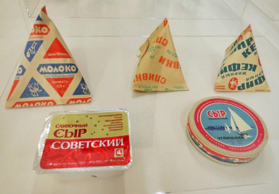 Советские молоко, сыр, кефир, варенец.