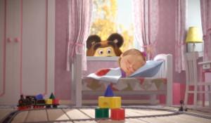 """Кадр из мультфильма """"Маша и """"Медведь""""."""