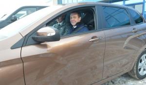 Дмитрий Медведев и Lada.