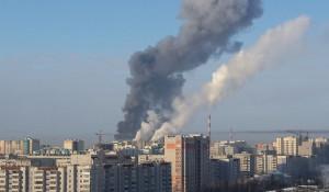 Пожар в цеху по переработке металла.