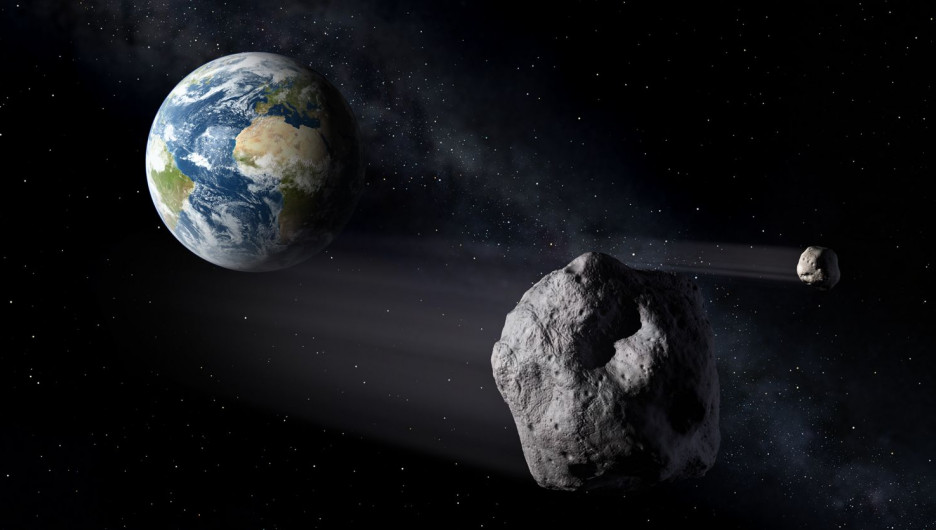 Астероид в космосе.