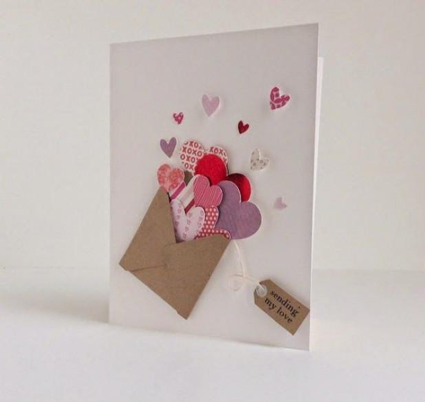 Идеи открытки на день святого валентина своими руками