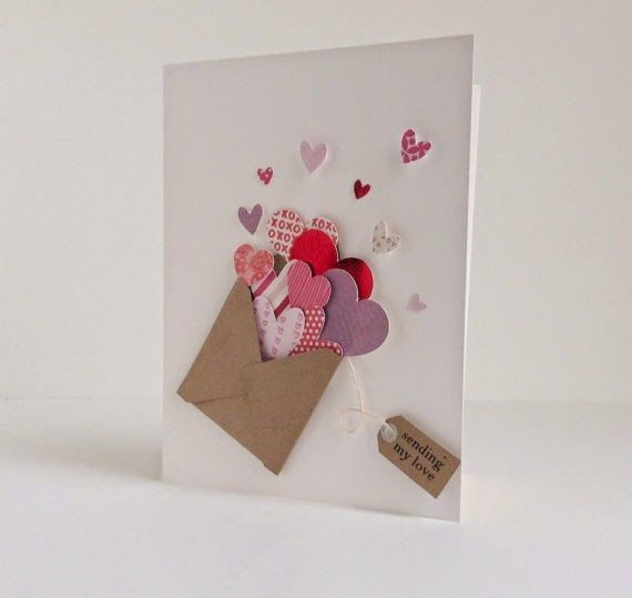 creative valentines day card - 736×695