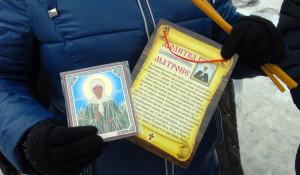Барнаульцы поклоняются мощам святой Матроны Московской.