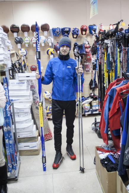 Лыжник.