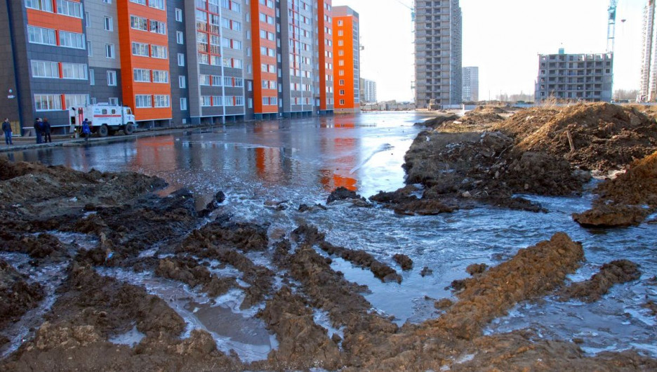 Потоп в барнаульских новостройках.