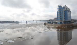 Ледоход в Барнауле. 4 апреля, 2016 год.