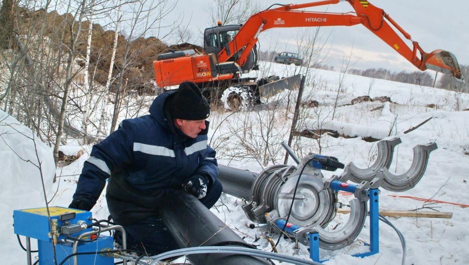 Строительство газопровода.