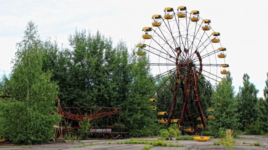 Припять после катастрофы на Чернобыльской АЭС.