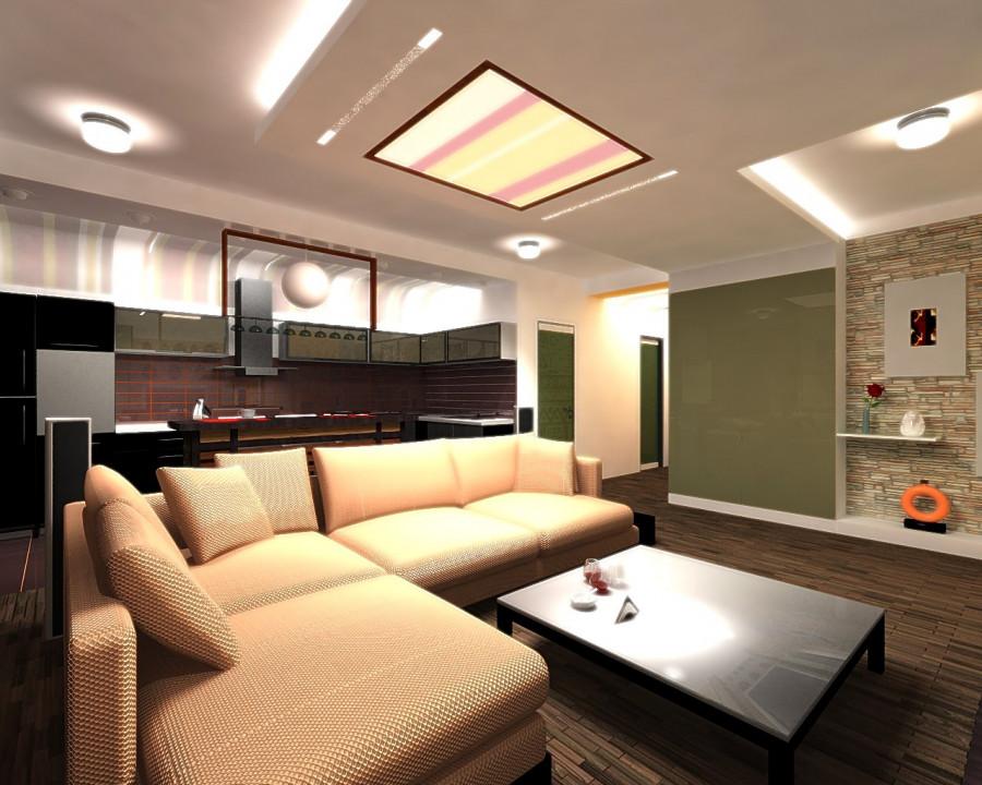 Важная деталь интерьера - качественный свет. В проекте использованы различные светодиоды. Благодаря этому решению помещения всегда разные и легко подстраиваются под настроение хозяев.