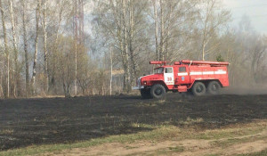Пожар в поселке Среднесибирском.