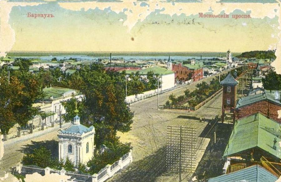 Вид на Московский проспект (Ленина) с Павловской улицы (Анатолия).