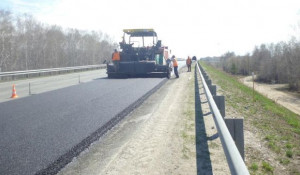 Дорожный ремонт на Чуйском тракте.