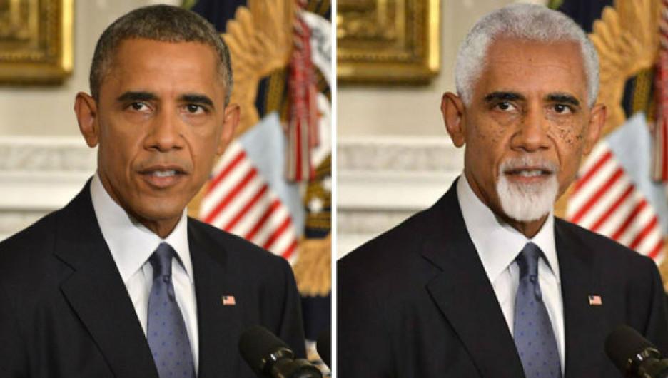 Как будут выглядеть звёзды в старости: Барак Обама